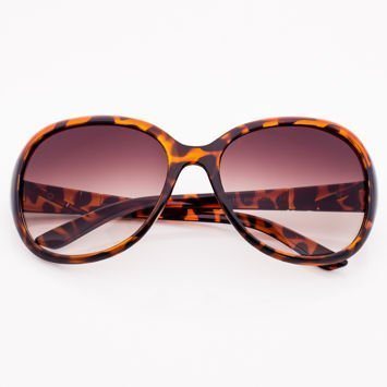 Brązowe Dwukolorowe Damskie Okulary Przeciwsłoneczne MUCHY