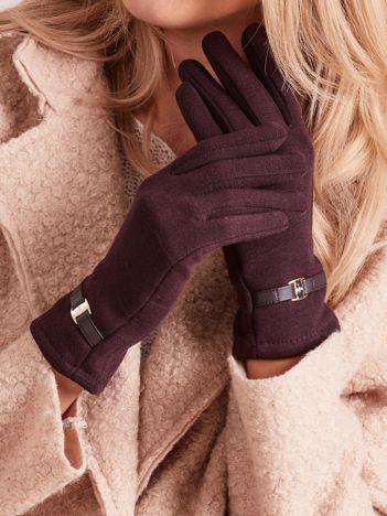 Brązowe eleganckie rękawiczki