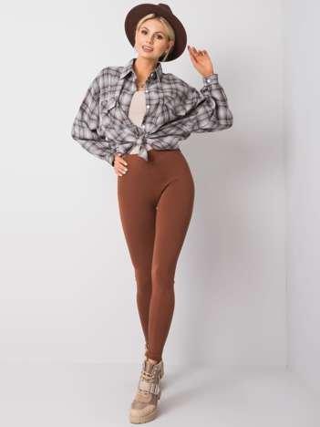 Brązowe legginsy Basic