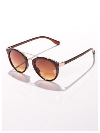 Brązowe okulary przeciwsłoneczne w stylu vintage