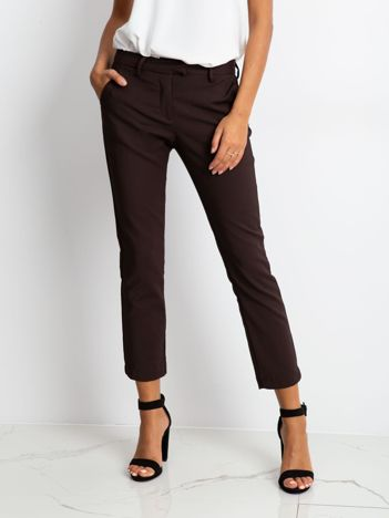 Brązowe spodnie Classy