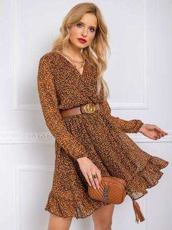Brązowo-czarna sukienka Jodie RUE PARIS