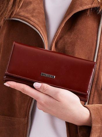 Brązowy damski skórzany portfel