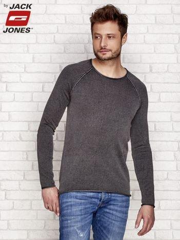 Brązowy dekatyzowany sweter męski