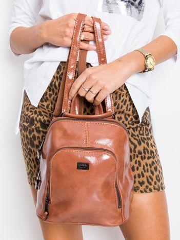 Brązowy plecak damski ze skóry ekologicznej