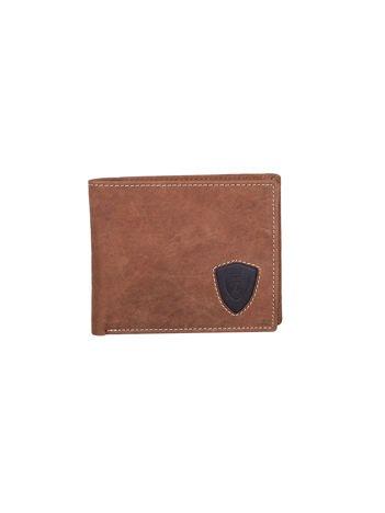 Brązowy portfel ze skóry naturalnej dla mężczyzny