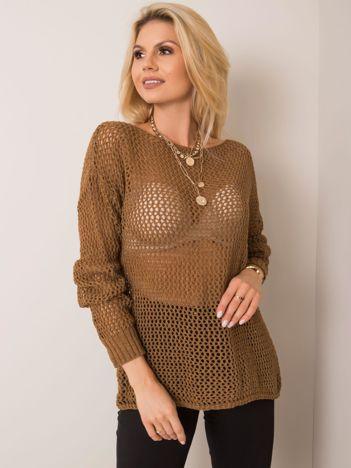 Brązowy sweter Elisa RUE PARIS