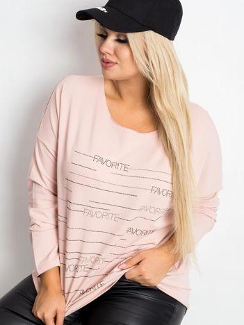Brudnoróżowa bluzka plus size Shay