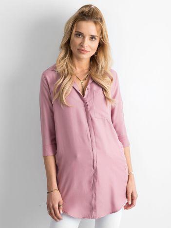 Brudnoróżowa długa koszula