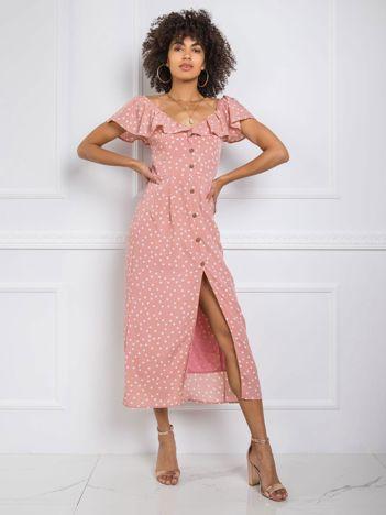 Brudnoróżowa sukienka Fergie RUE PARIS