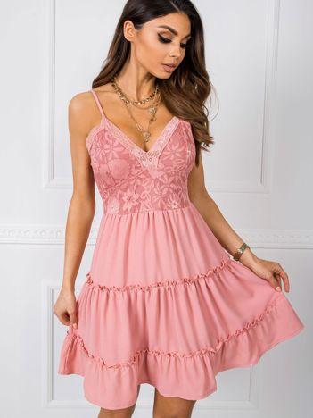 Brudnoróżowa sukienka Serafine RUE PARIS