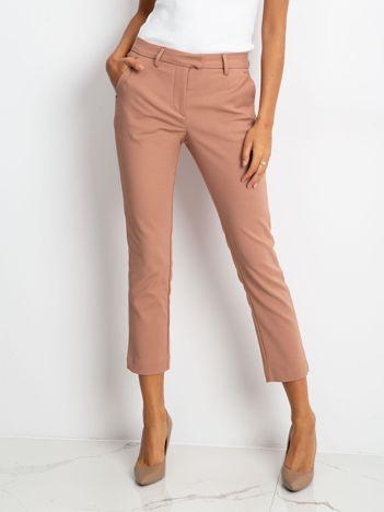Brudnoróżowe spodnie Classy