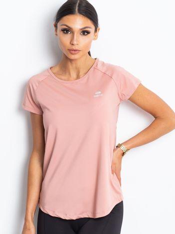 Brudnoróżowy damski t-shirt TOMMY LIFE