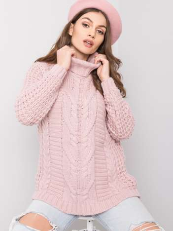 Brudnoróżowy sweter Colleen
