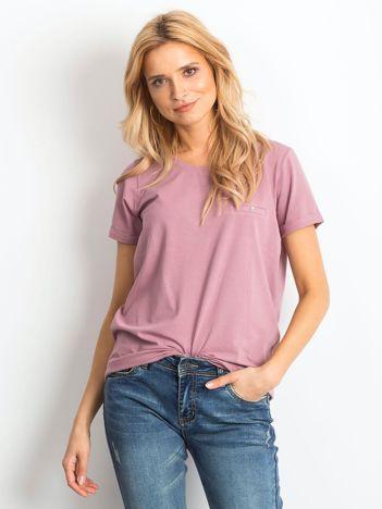 Brudnoróżowy t-shirt Transformative