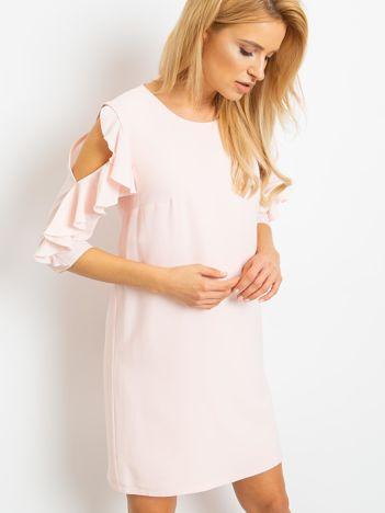 Brzoskwiniowa sukienka Brilliance