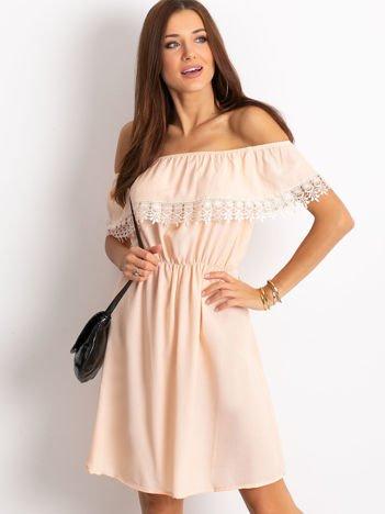 Brzoskwiniowa sukienka Serenity