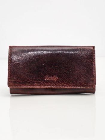 Burgundowy skórzany portfel