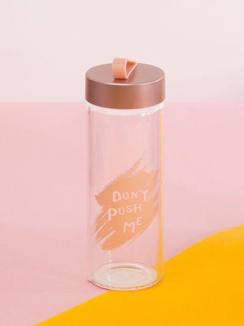 Butelka szklana z uchwytem różowa