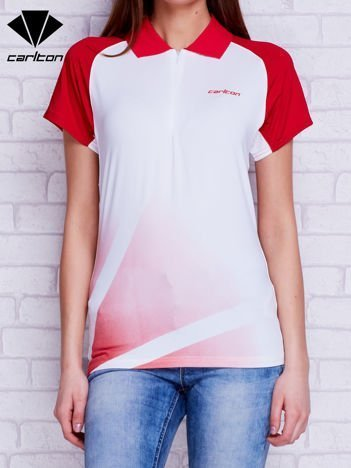 CARLTON Biała koszulka polo w sportowym stylu