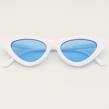 CAT EYE Białe damskie okulary przeciwsłoneczne KOCIE OCZY