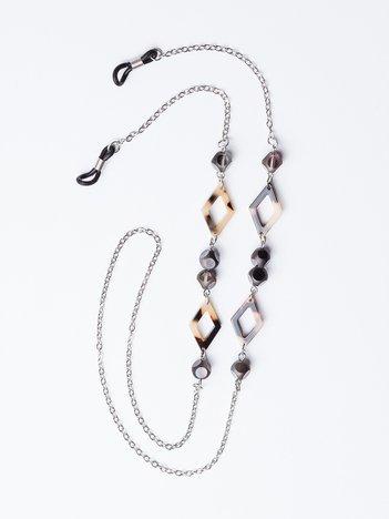 CHAIN SUNGLASSES Srebrny łańcuszek do okularów z detalami