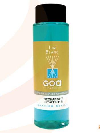 CLEM-GOA Zapas do dyfuzora zapachowego  250 ml - Biały len