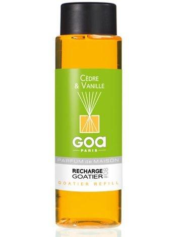 CLEM-GOA Zapas do dyfuzora zapachowego 250 ml - Cedr i wanilia