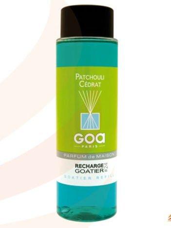 CLEM-GOA Zapas do dyfuzora zapachowego  250 ml - Paczuli z cedrem