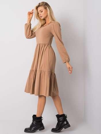 Camelowa sukienka Yonne RUE PARIS