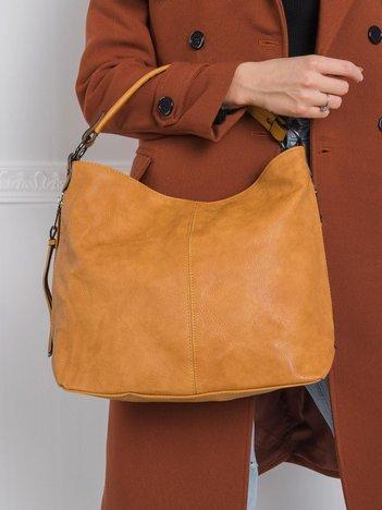 Camelowa torba damska z ekoskóry