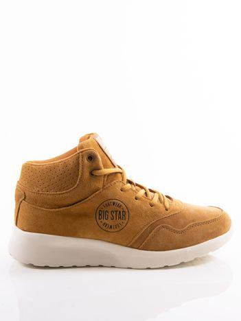 Camelowe buty sportowe BIG STAR z ociepleniem i sprężystą podeszwą