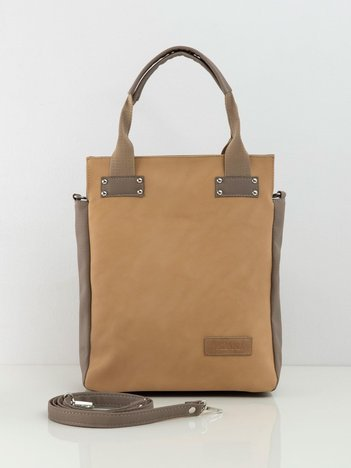 Camelowo-beżowa damska torba