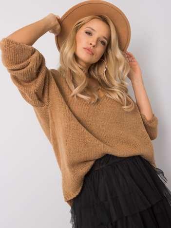 Camelowy sweter oversize Stella OCH BELLA