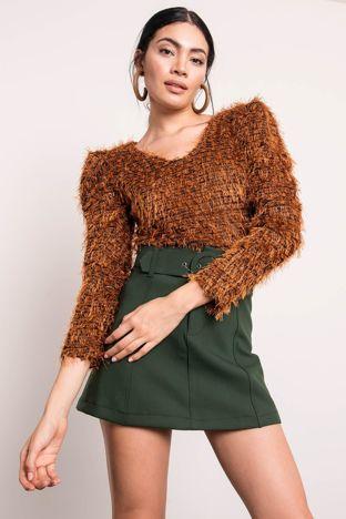 Ceglasty sweter BSL