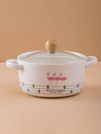Ceramiczna biała miska