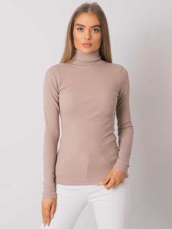Ciemnobeżowa bluzka z golfem Elisee RUE PARIS