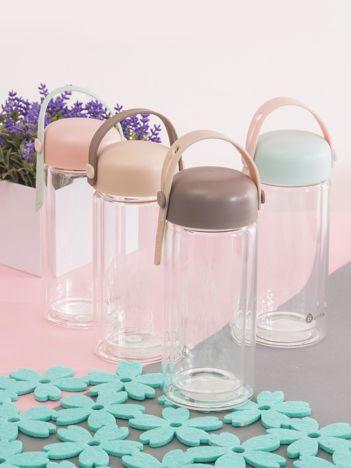Ciemnobeżowa szklana butelka z zakrętką