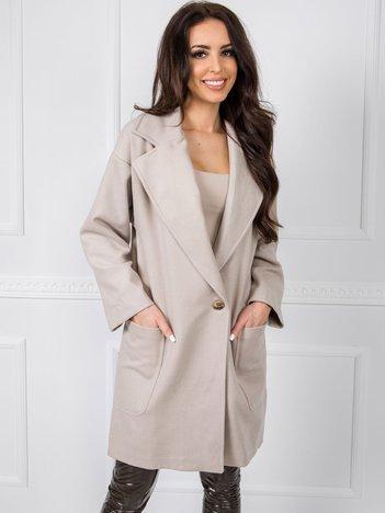 Ciemnobeżowy płaszcz BSL