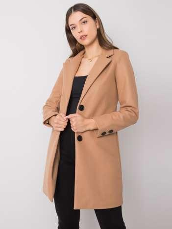 Ciemnobeżowy płaszcz Dorna
