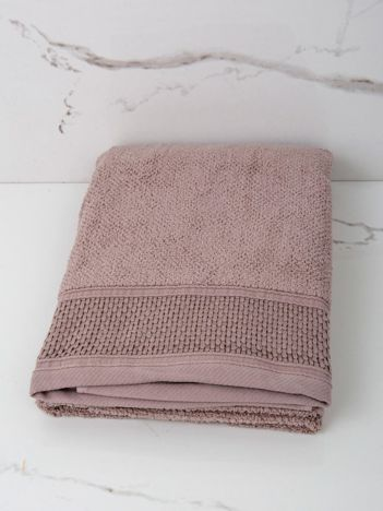 Ciemnobeżowy ręcznik kąpielowy