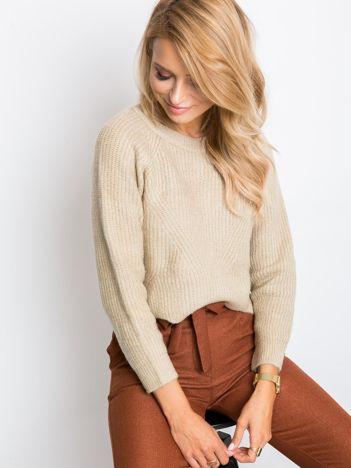 Ciemnobeżowy sweter Bounty