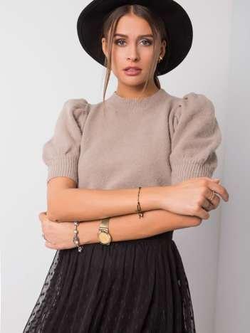 Ciemnobeżowy sweter Claudia