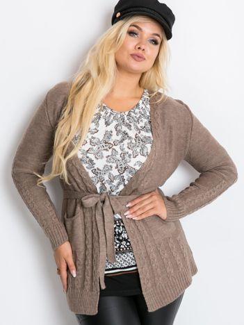 Ciemnobeżowy sweter plus size Vibe