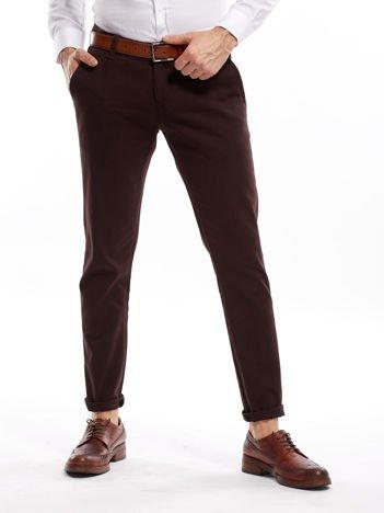 Ciemnobrązowe spodnie męskie chinos