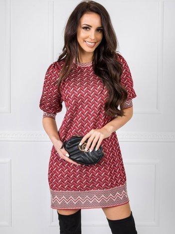 Ciemnoczerwona sukienka BSL