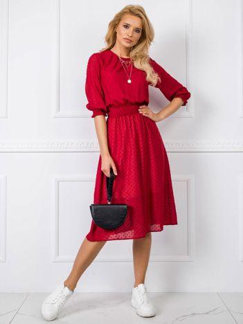 Ciemnoczerwona sukienka Nancy