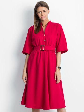 Ciemnoczerwona sukienka Synonymous