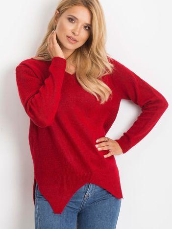 Ciemnoczerwony sweter Believe