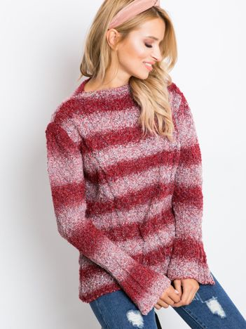 Ciemnoczerwony sweter Goes